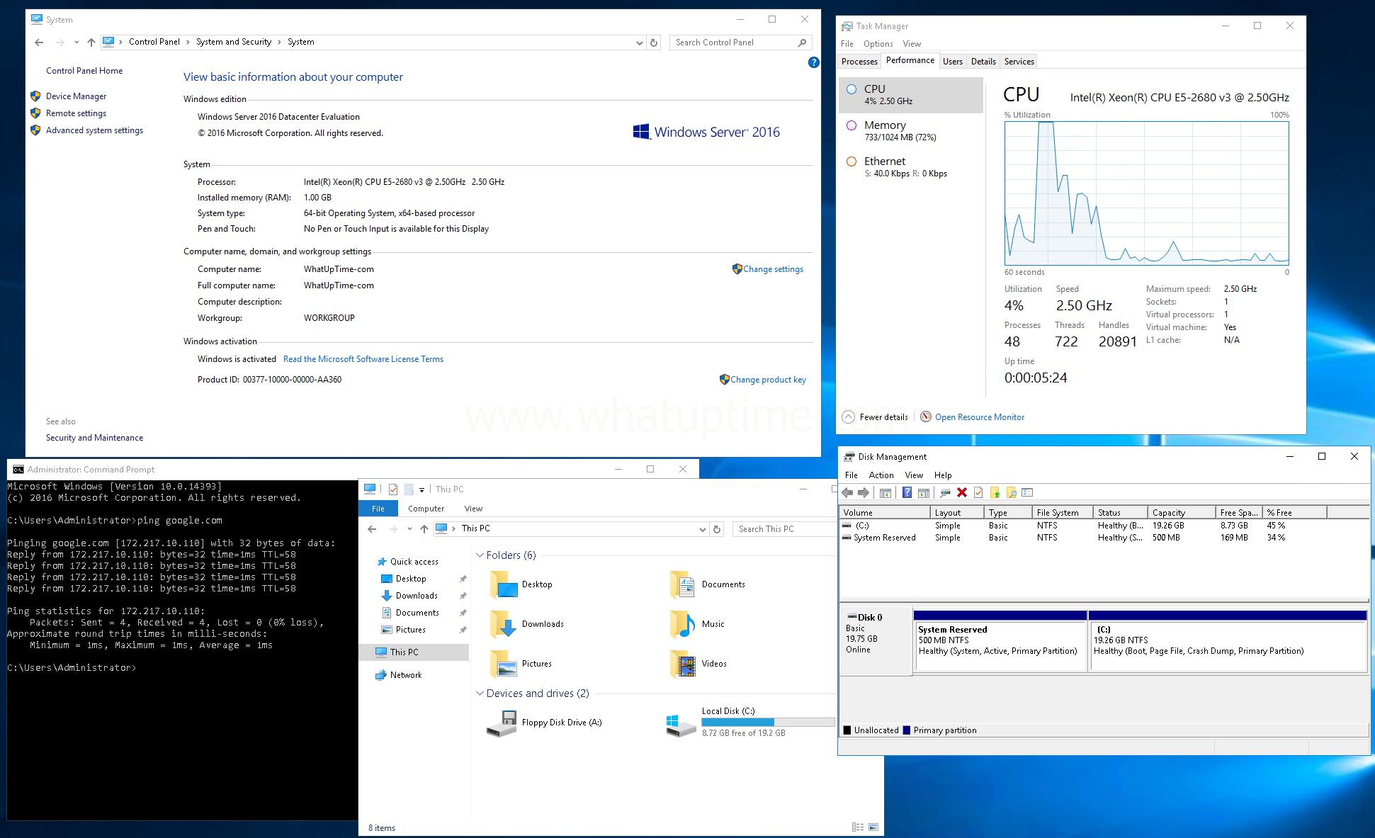 Microsoft Windows on Linode! - WhatUpTime com
